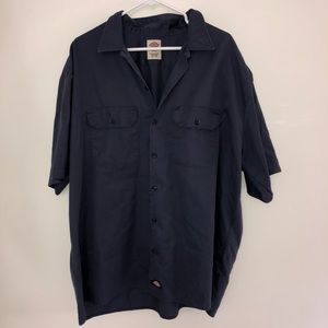 Dickies Big and Tall Button Down Work Shirt